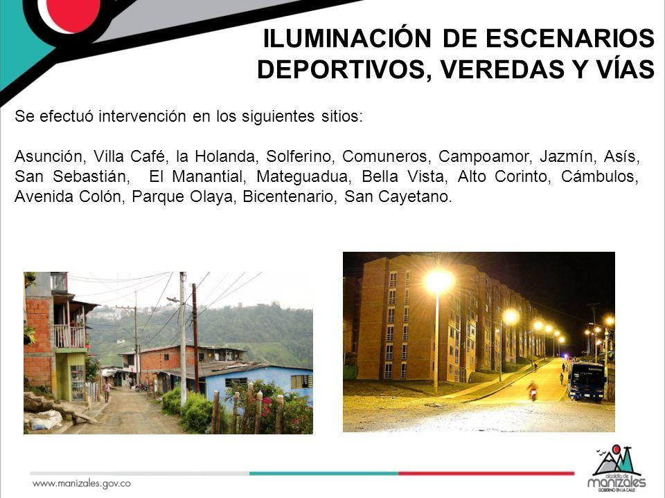 ILUMINACIÓN DE ESCENARIOS DEPORTIVOS, VEREDAS Y VÍAS