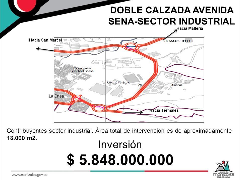 DOBLE CALZADA AVENIDA SENA-SECTOR INDUSTRIAL