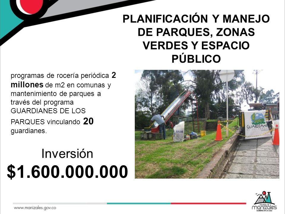 PLANIFICACIÓN Y MANEJO DE PARQUES, ZONAS VERDES Y ESPACIO PÚBLICO