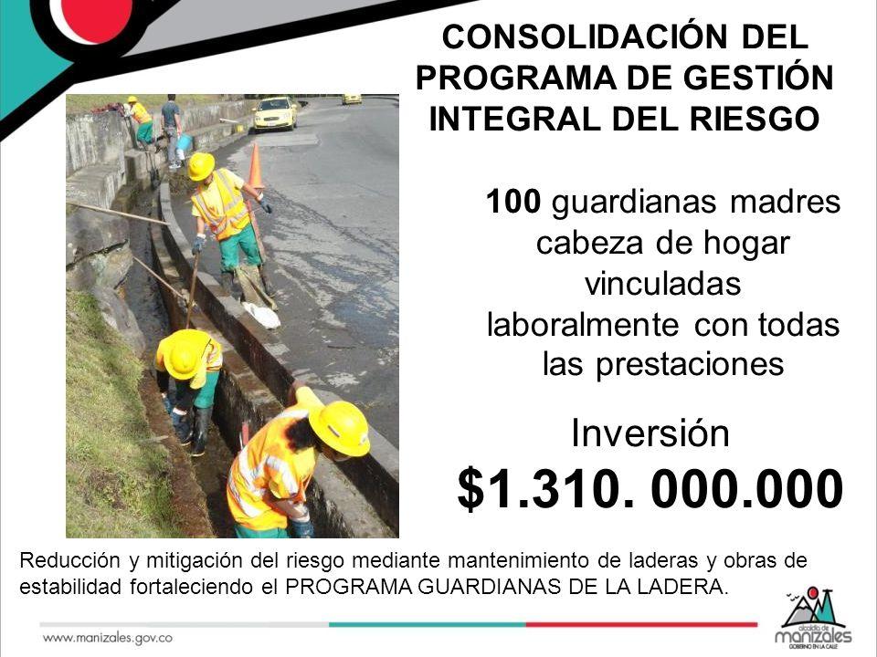 CONSOLIDACIÓN DEL PROGRAMA DE GESTIÓN INTEGRAL DEL RIESGO