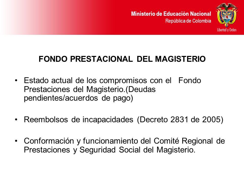 FONDO PRESTACIONAL DEL MAGISTERIO