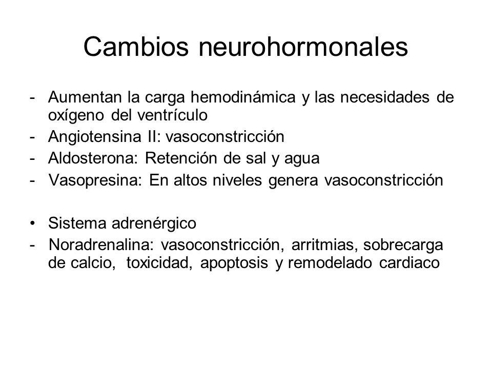 Cambios neurohormonales