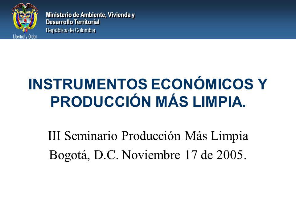 INSTRUMENTOS ECONÓMICOS Y PRODUCCIÓN MÁS LIMPIA.
