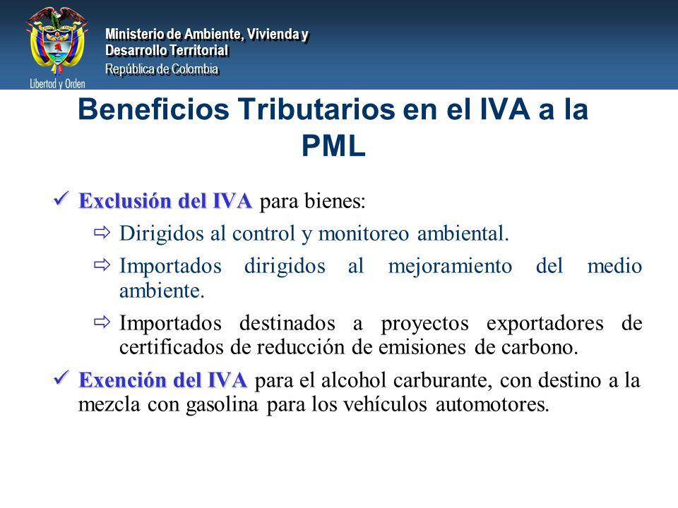 Beneficios Tributarios en el IVA a la PML