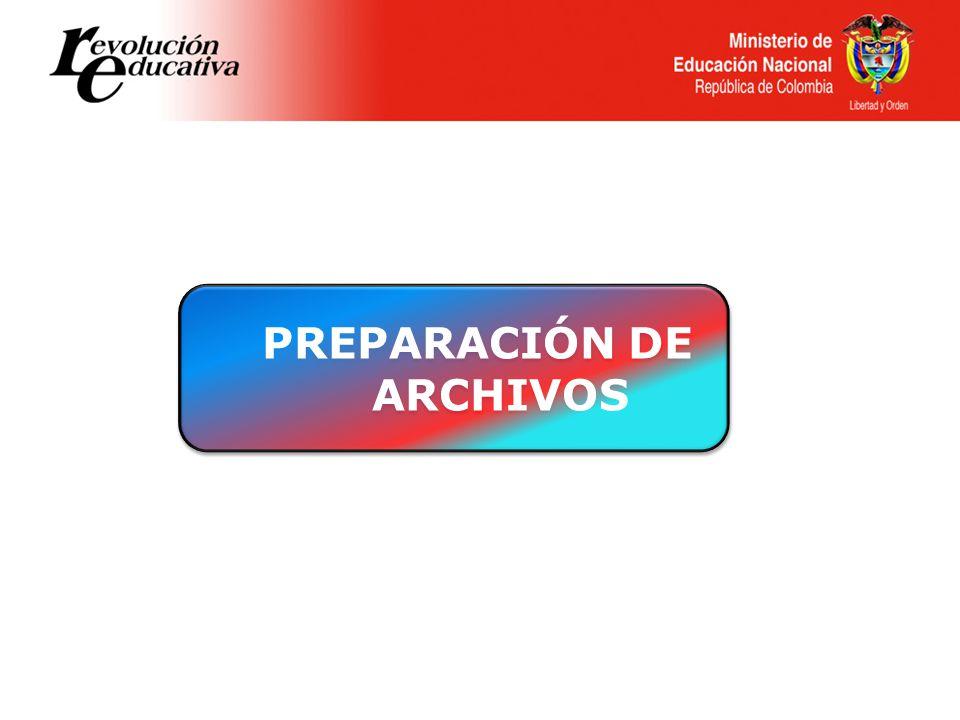 PREPARACIÓN DE ARCHIVOS