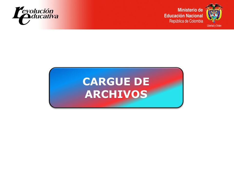 CARGUE DE ARCHIVOS