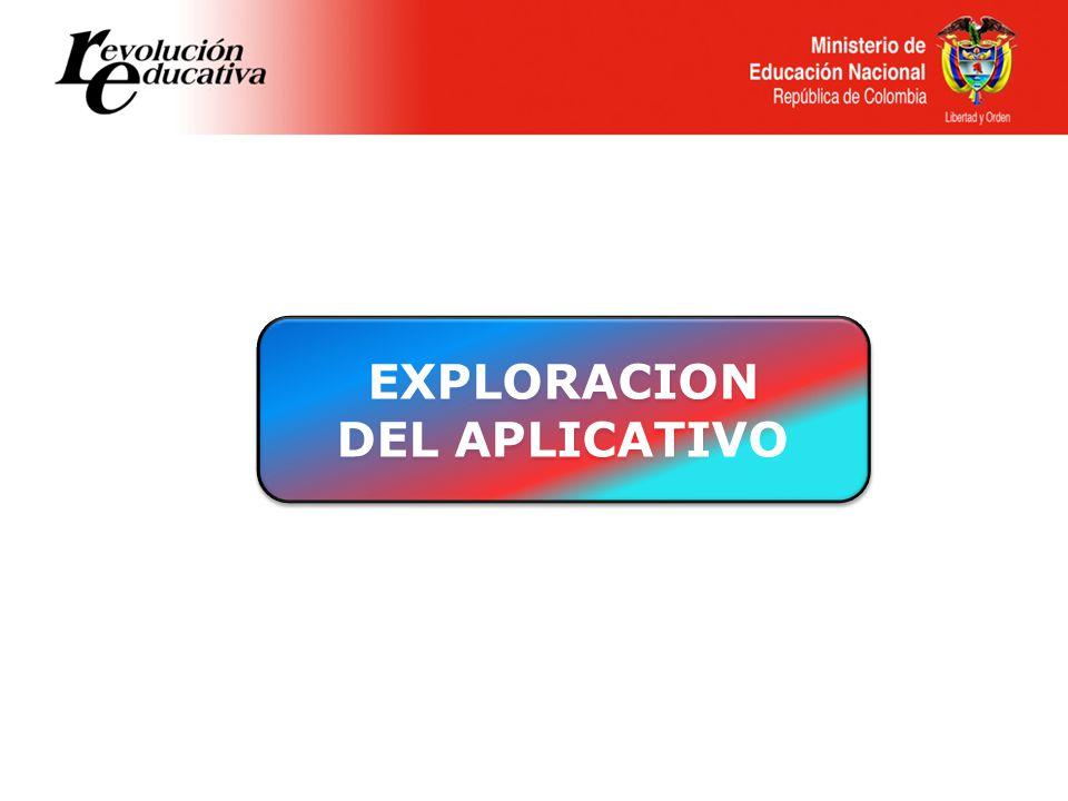 EXPLORACION DEL APLICATIVO