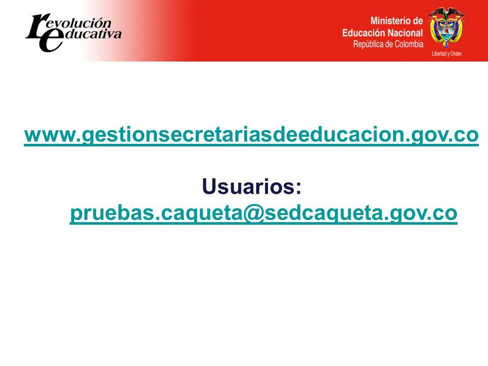 Usuarios: pruebas.caqueta@sedcaqueta.gov.co