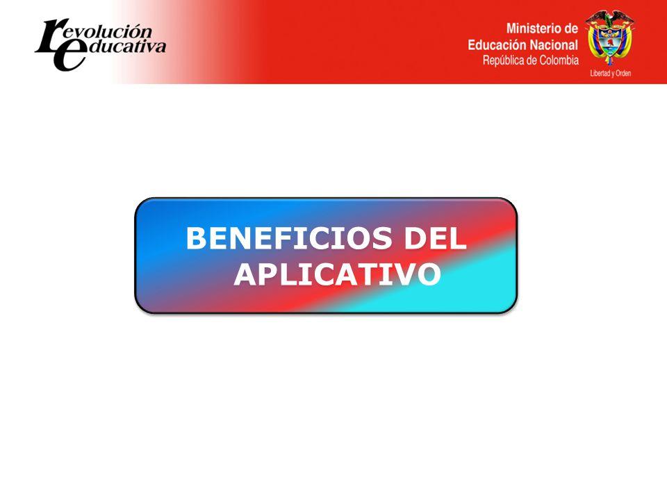BENEFICIOS DEL APLICATIVO