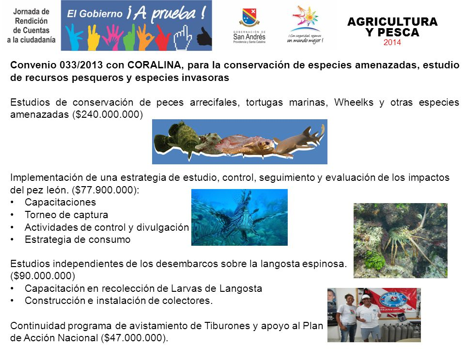 AGRICULTURA Y PESCA 2014.