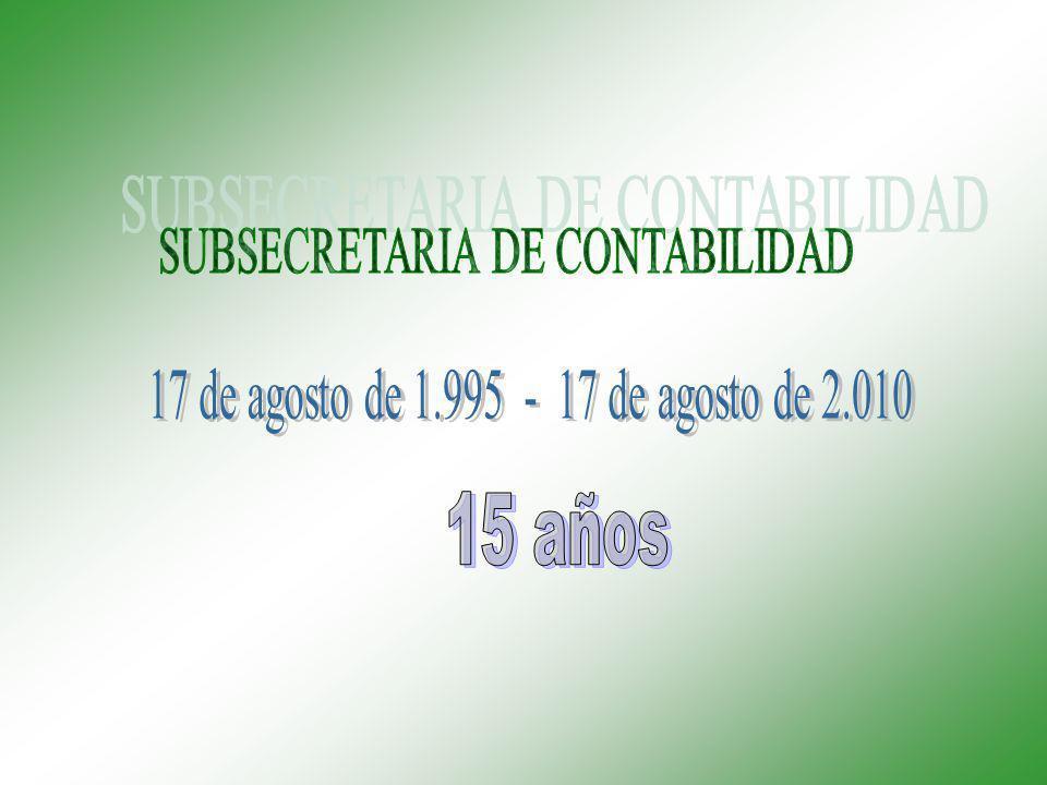15 años SUBSECRETARIA DE CONTABILIDAD