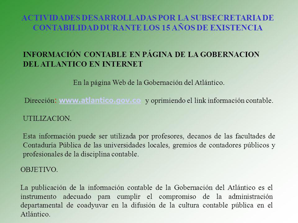 En la página Web de la Gobernación del Atlántico.