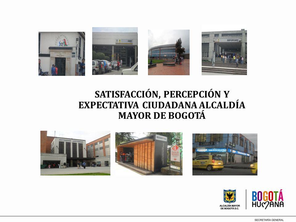 SATISFACCIÓN, PERCEPCIÓN Y EXPECTATIVA CIUDADANA ALCALDÍA MAYOR DE BOGOTÁ