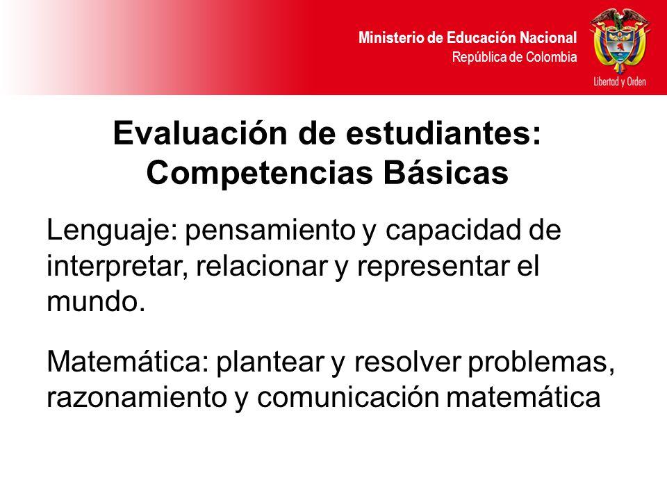 Evaluación de estudiantes: