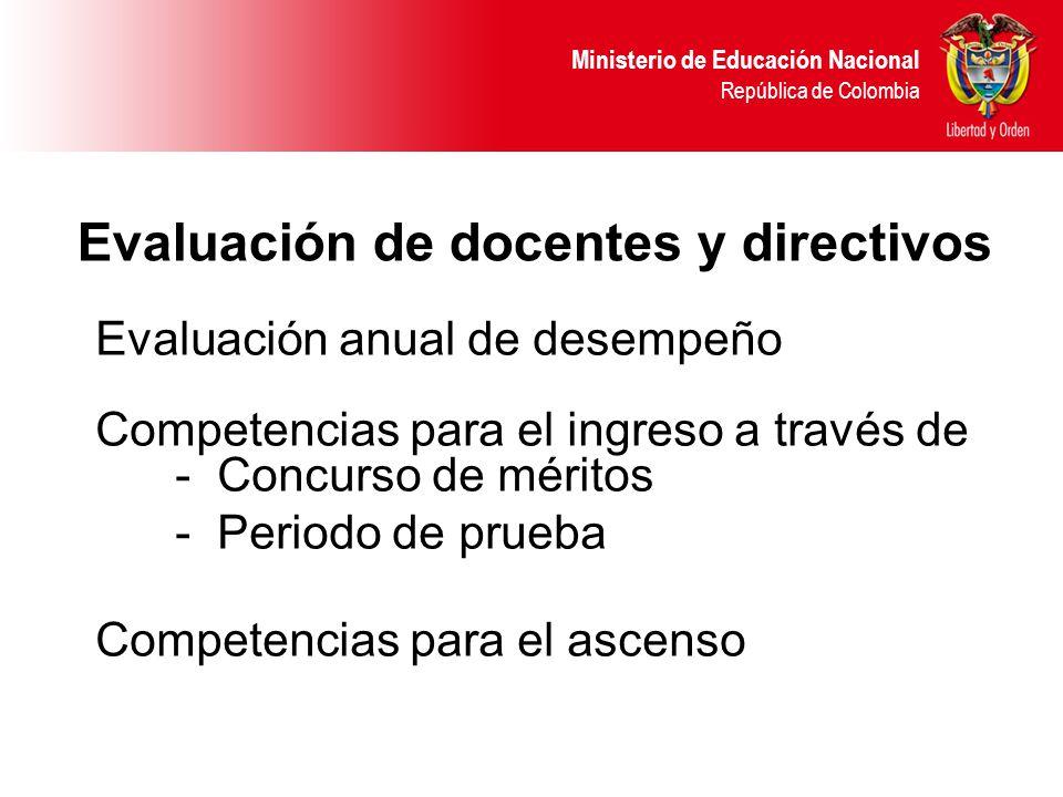 Evaluación de docentes y directivos