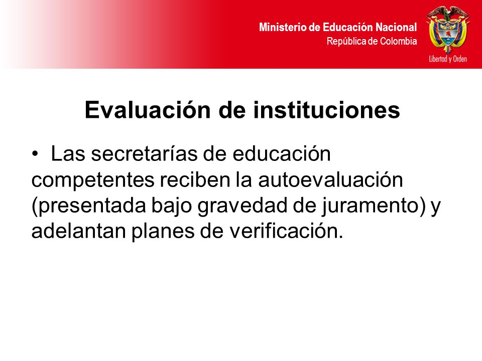 Evaluación de instituciones