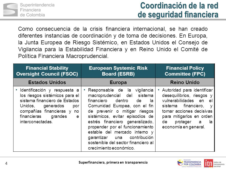 de seguridad financiera