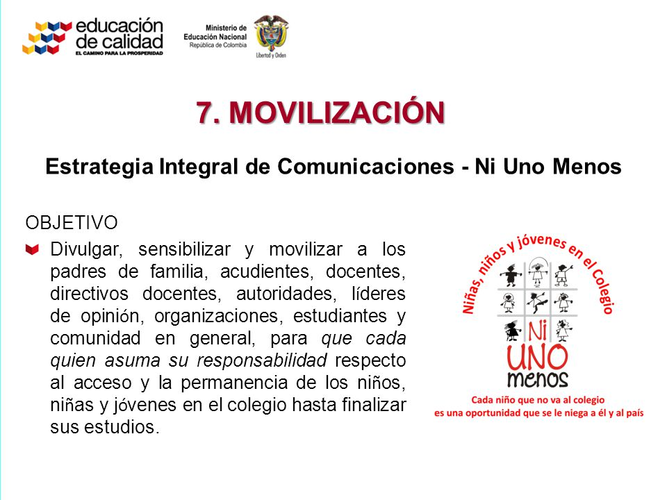 Estrategia Integral de Comunicaciones - Ni Uno Menos