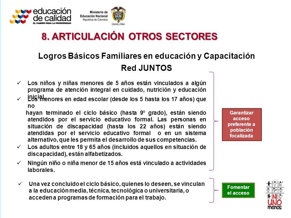 8. ARTICULACIÓN OTROS SECTORES