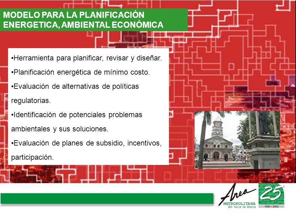 MODELO PARA LA PLANIFICACIÓN ENERGETICA, AMBIENTAL ECONÓMICA