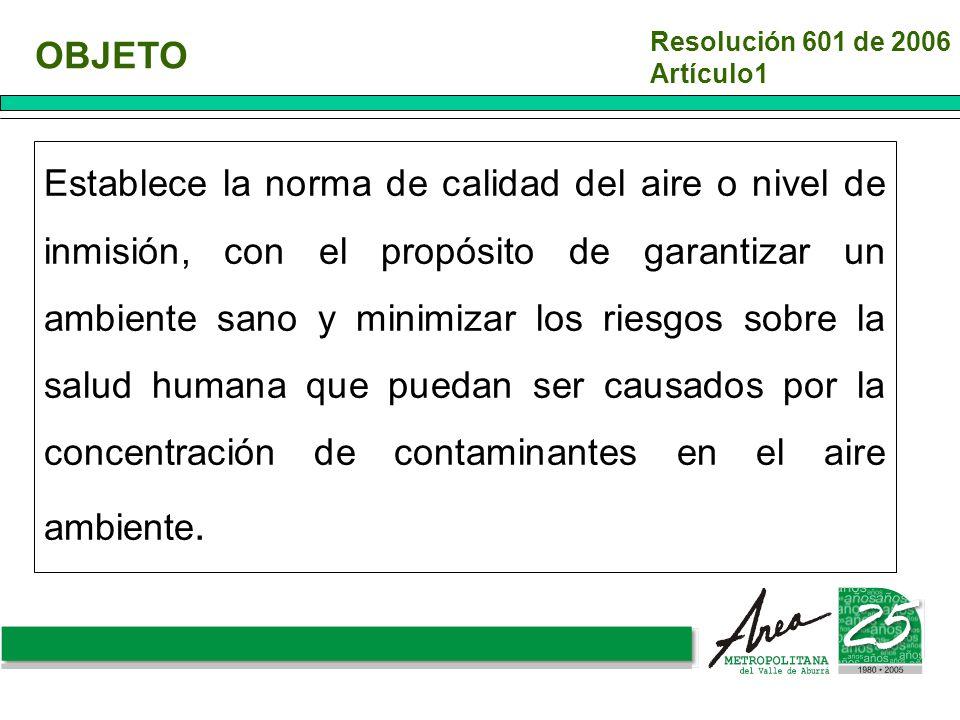 Resolución 601 de 2006 Artículo1. OBJETO.