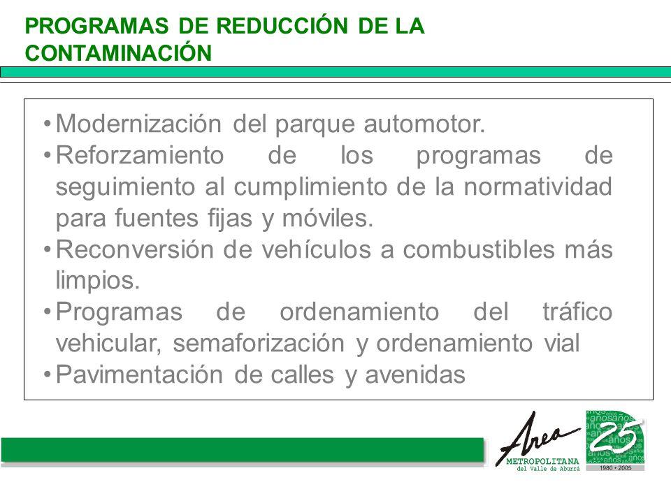 Modernización del parque automotor.
