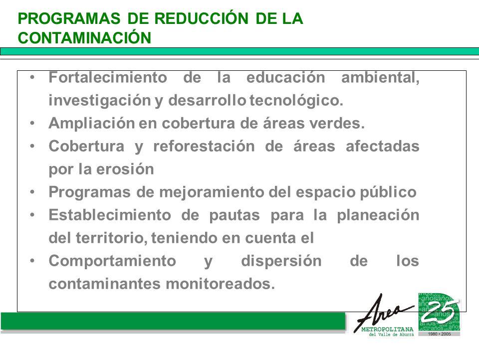 PROGRAMAS DE REDUCCIÓN DE LA CONTAMINACIÓN