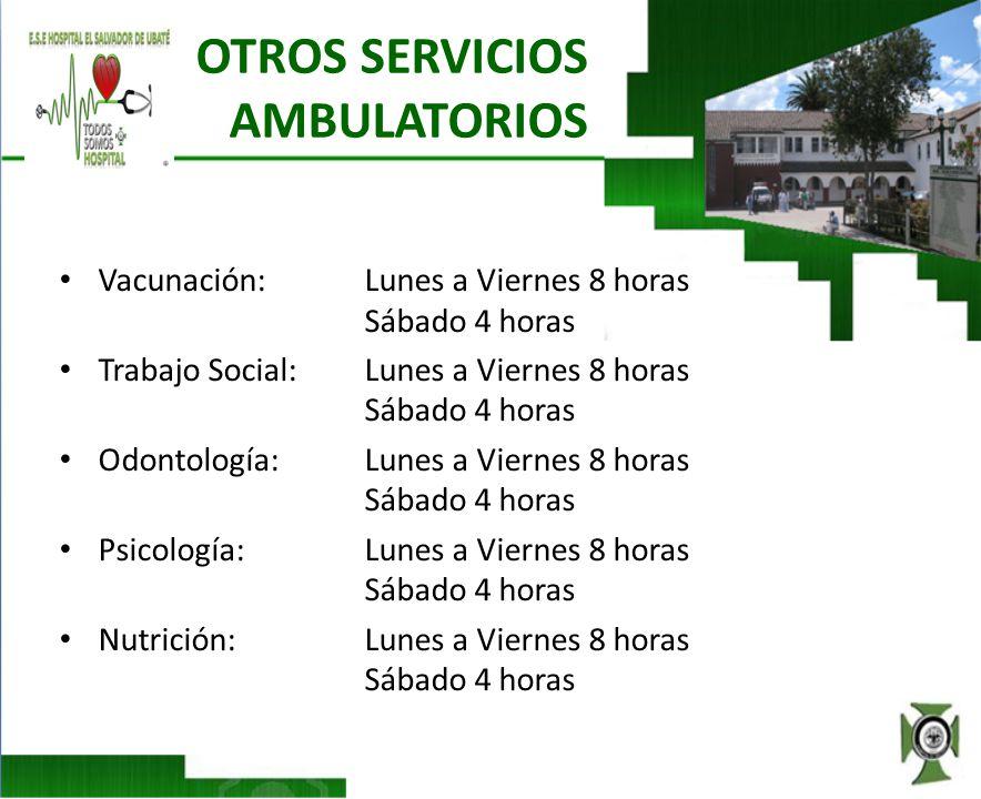 OTROS SERVICIOS AMBULATORIOS