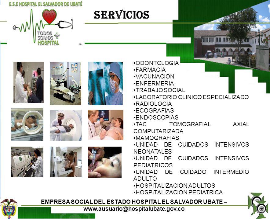 SERVICIOS ODONTOLOGIA FARMACIA VACUNACION ENFERMERIA TRABAJO SOCIAL