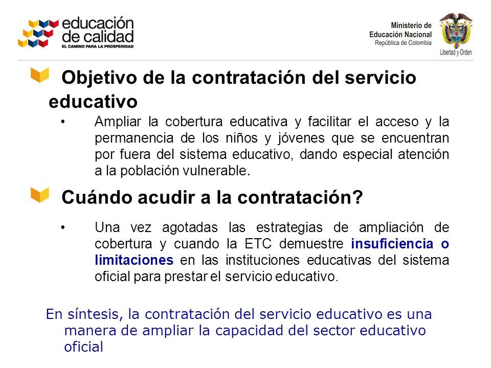 Objetivo de la contratación del servicio educativo