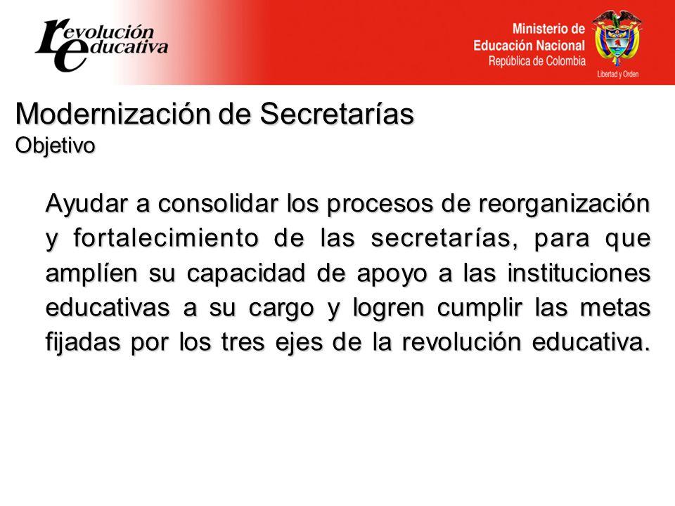 Modernización de Secretarías Objetivo