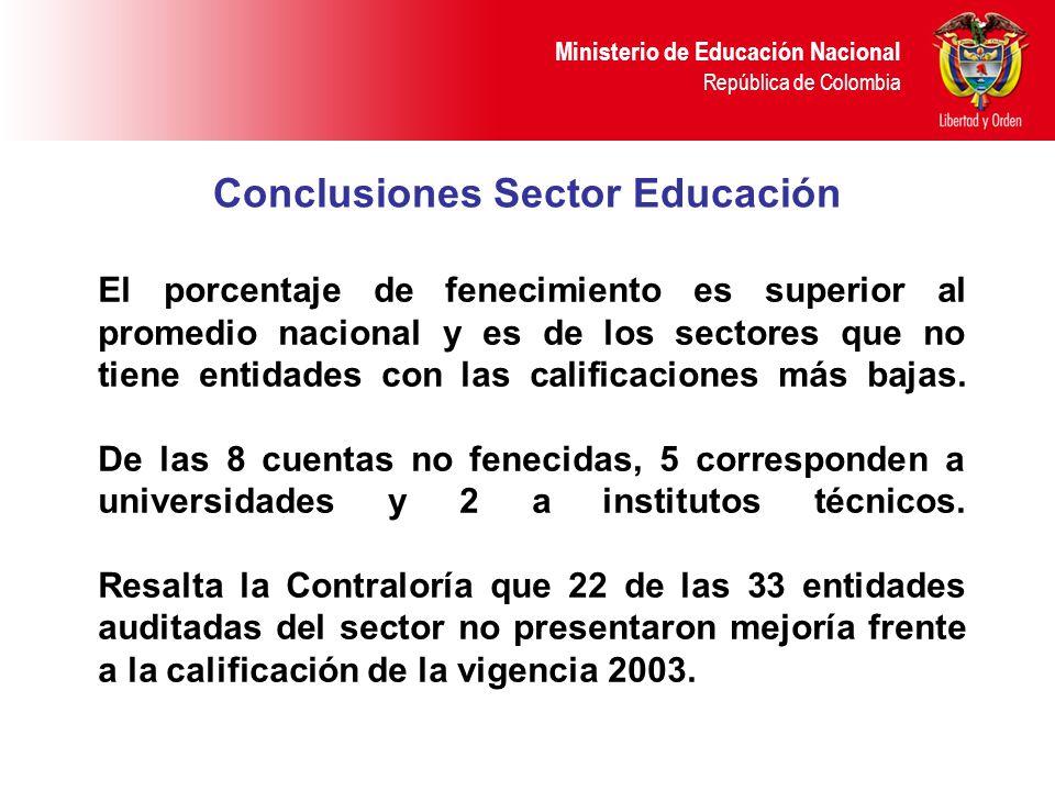 Conclusiones Sector Educación
