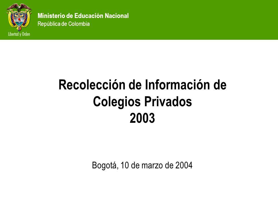 Recolección de Información de Colegios Privados