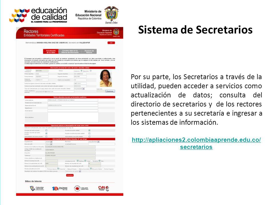 Sistema de Secretarios