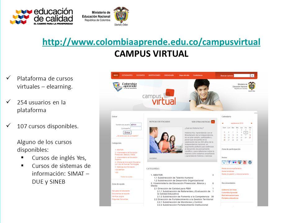 http://www.colombiaaprende.edu.co/campusvirtual CAMPUS VIRTUAL
