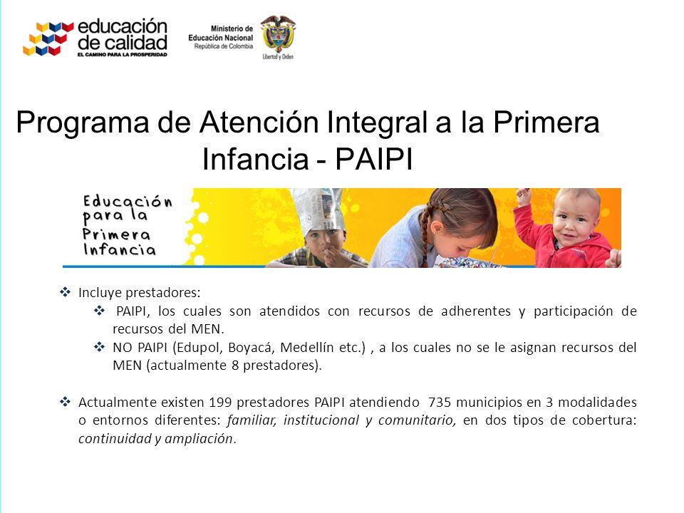 Programa de Atención Integral a la Primera Infancia - PAIPI