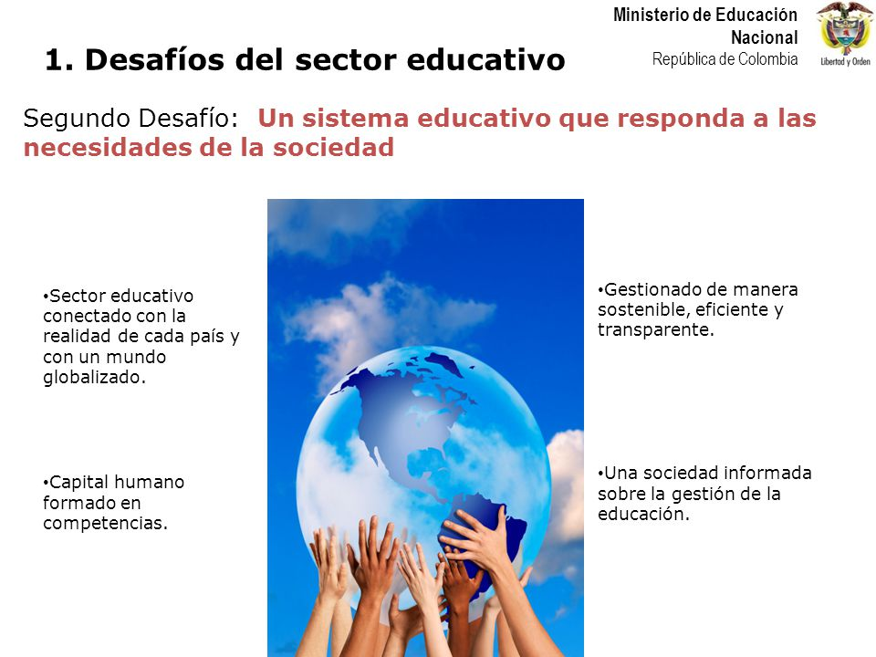 1. Desafíos del sector educativo