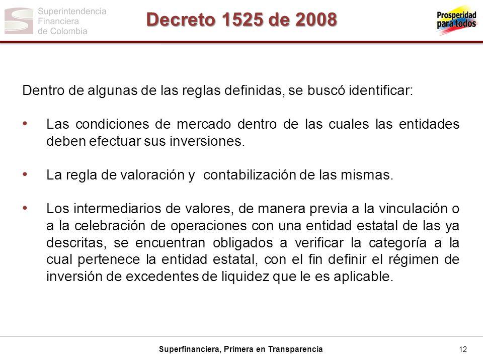 Decreto 1525 de 2008 Dentro de algunas de las reglas definidas, se buscó identificar: