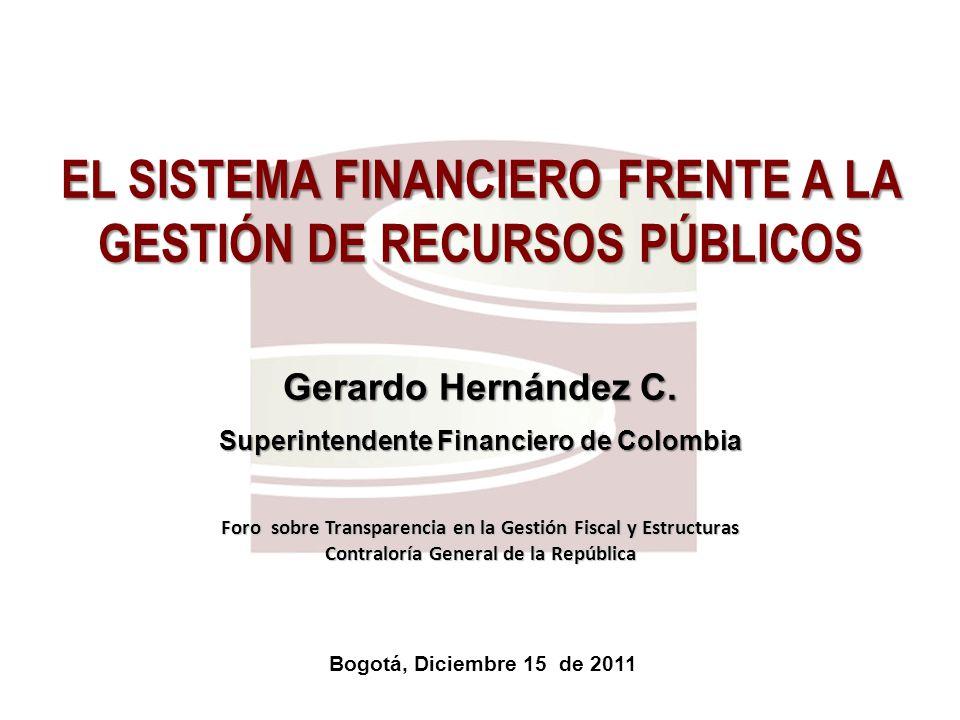 EL SISTEMA FINANCIERO FRENTE A LA GESTIÓN DE RECURSOS PÚBLICOS