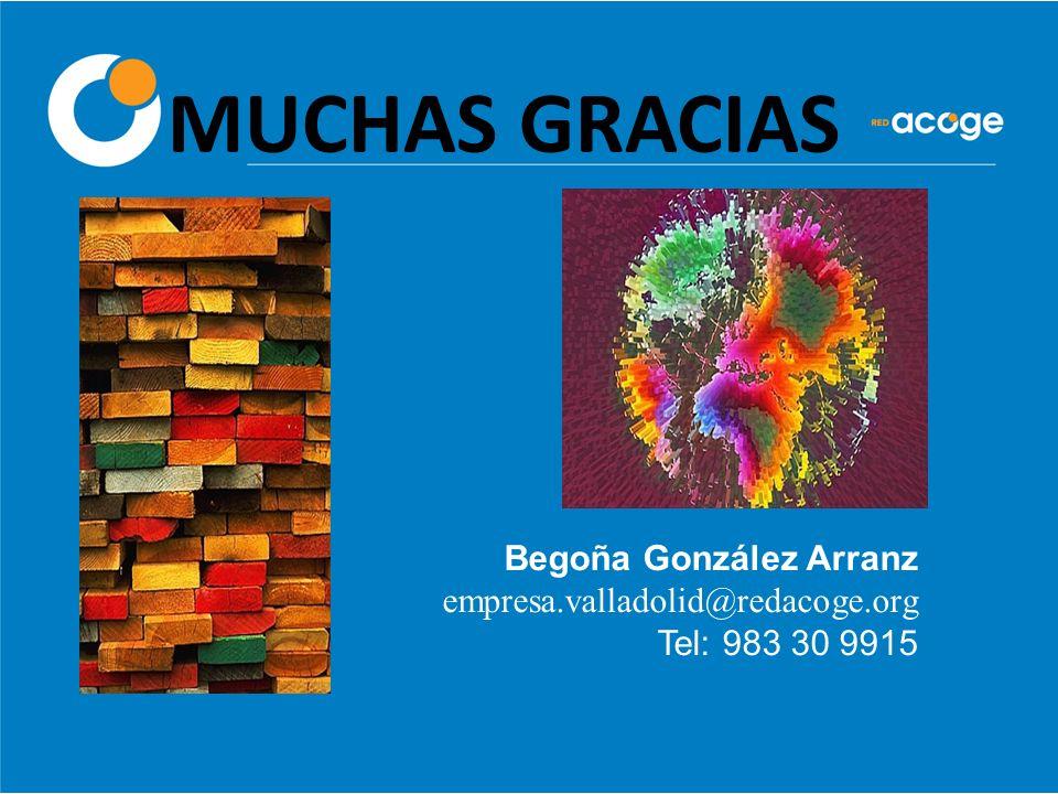 MUCHAS GRACIAS Begoña González Arranz empresa.valladolid@redacoge.org