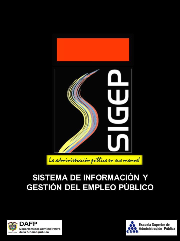 SISTEMA DE INFORMACIÓN Y GESTIÓN DEL EMPLEO PÚBLICO