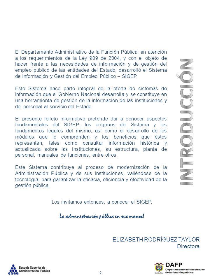 INTRODUCCIÓN La administración pública en sus manos!