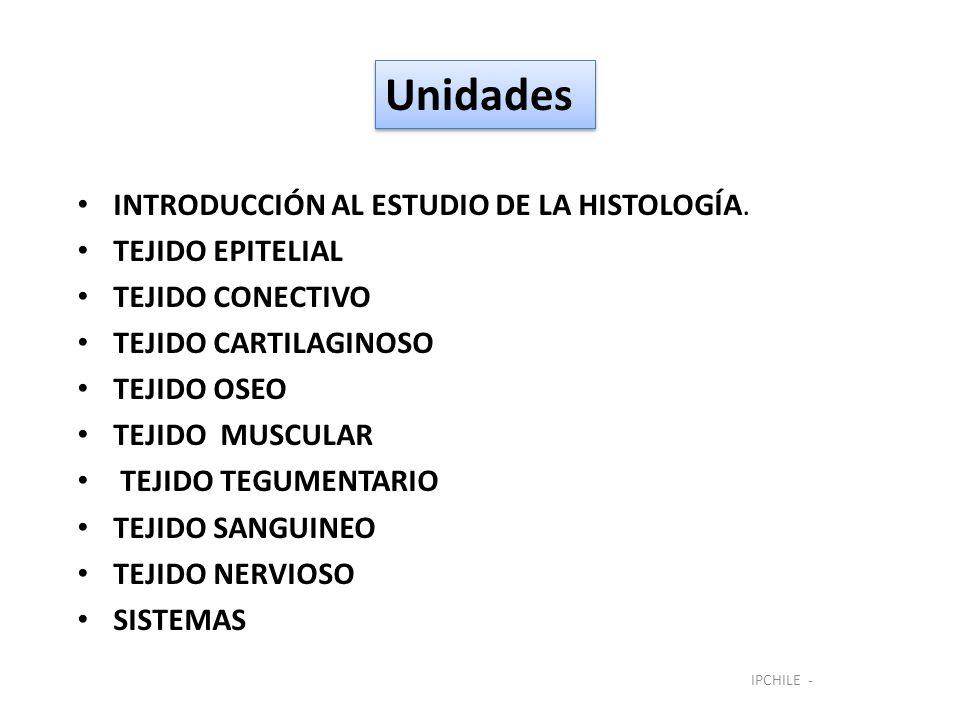 Unidades INTRODUCCIÓN AL ESTUDIO DE LA HISTOLOGÍA. TEJIDO EPITELIAL