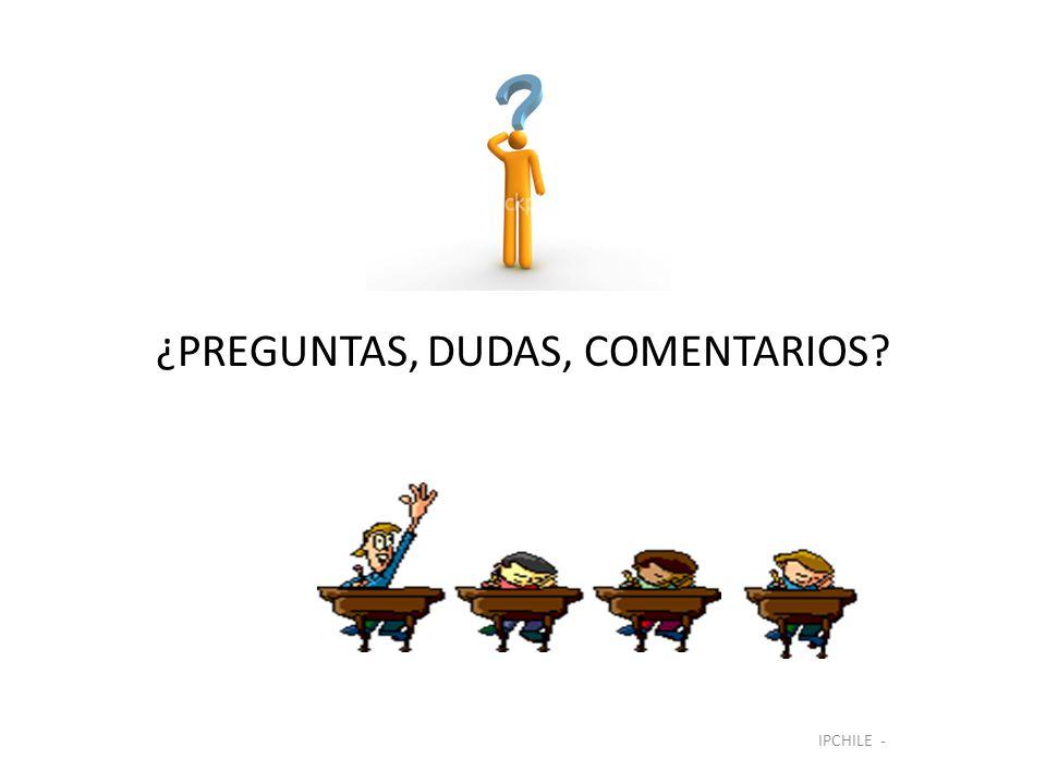 ¿PREGUNTAS, DUDAS, COMENTARIOS