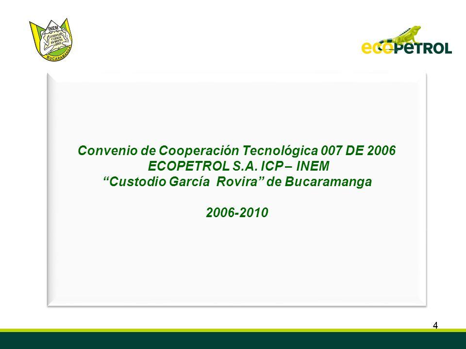Convenio de Cooperación Tecnológica 007 DE 2006