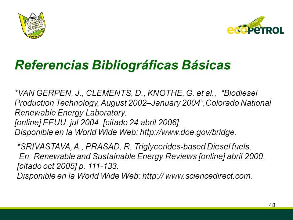 Referencias Bibliográficas Básicas