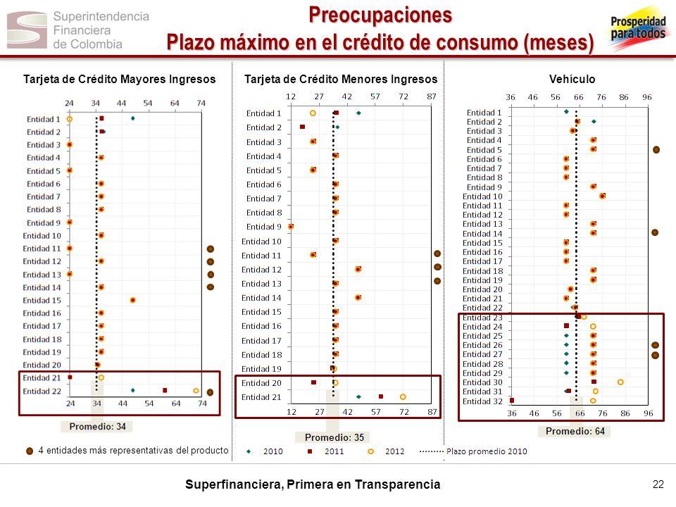 Preocupaciones Plazo máximo en el crédito de consumo (meses)
