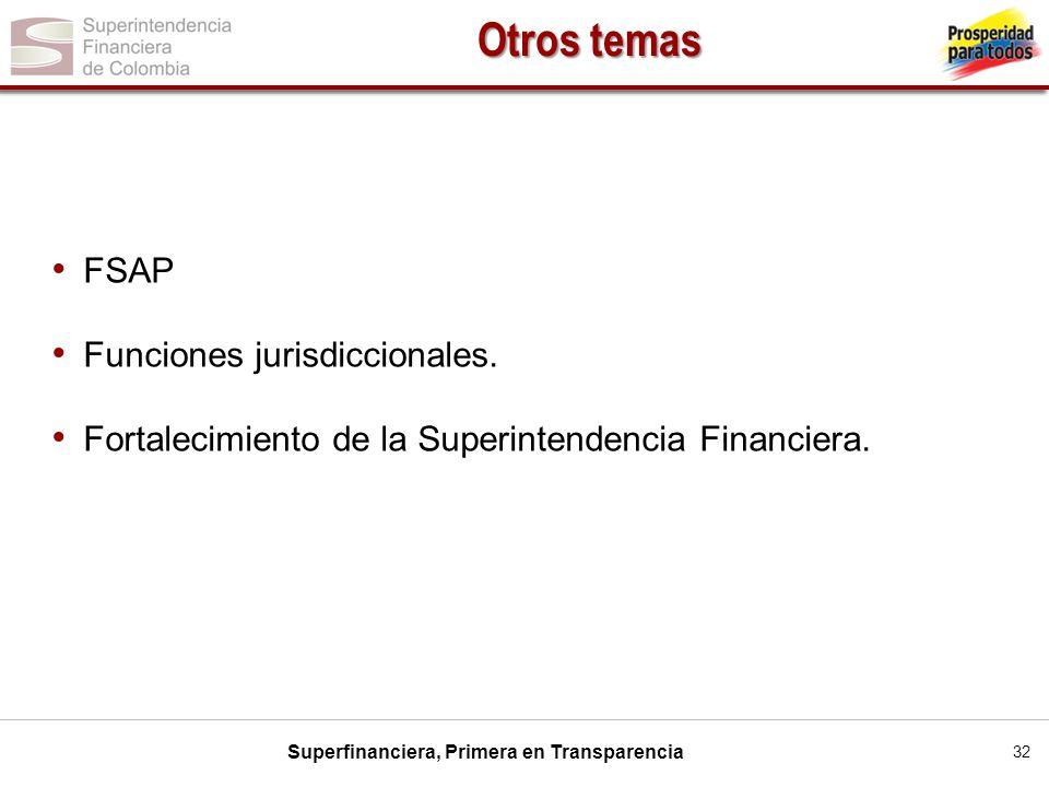 Otros temas FSAP Funciones jurisdiccionales.