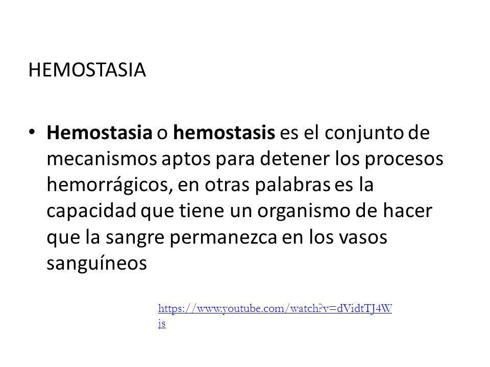 HEMOSTASIA