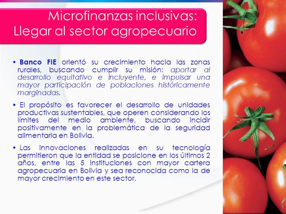 Microfinanzas inclusivas: Llegar al sector agropecuario